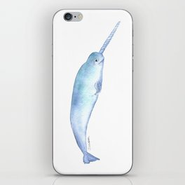 Narwhal Watercolor iPhone Skin