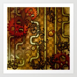 Noble Steampunk design, clocks and gears Art Print