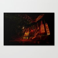 castlevania Canvas Prints featuring Castlevania: Medusa's Room by FirebornForm