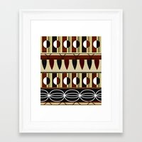 mid century Framed Art Prints featuring Mid Century Pattern Composition by Elisandra Sevenstar