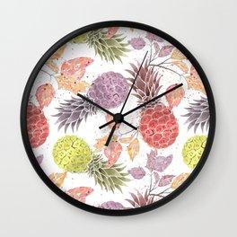 Juicy pineapple. Wall Clock