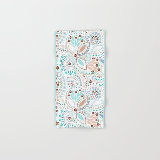 Colorful pattern light pastel colors with beads Hand & Bath Towel
