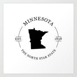 Minnesota - The North Star State Art Print