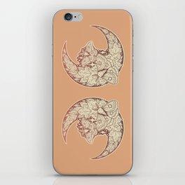 Moth & Moon | Autumn Terra Cotta Palette | Nature Art iPhone Skin
