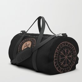 Mannaz - Wooden Celtic Rune of self, individuals, universe, family, loved ones, friends, devoted Duffle Bag