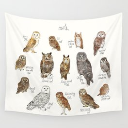 Owls Wall Tapestry