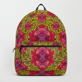 Fantasy-flowers to brighten up in gold Backpack