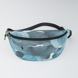 Ethereal Blue Lotus Flower - Tropical, Botanical Art - Blue Water Lily - Lotus Pattern - Decor Fanny Pack