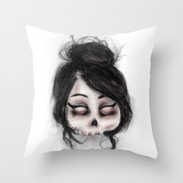 The inability to perceive with eyes notebook II Throw Pillow