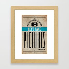 Jim Gaffigan Inspired Quote Poster - Pictures Framed Art Print