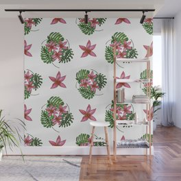 Tropical background. Summer pattern.  Wall Mural
