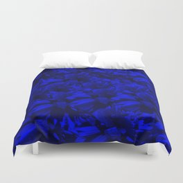 A202 Rich Blue and Black Abstract Design Duvet Cover