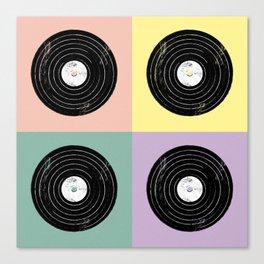 For the Record // Retro Pop Art Design Canvas Print