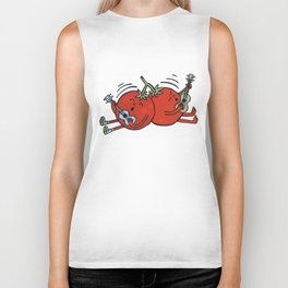 Ukelele Tomatoes Biker Tank