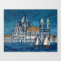 italy Canvas Prints featuring italy by Ninamelusina