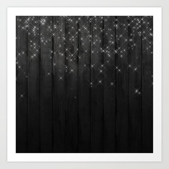 Fairy Lights on Wood 05 Art Print