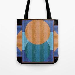 Orange Blues Geometric Shapes Tote Bag