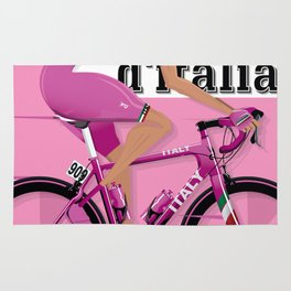 GIRO D'ITALIA Grand Cycling Tour of Italy Rug