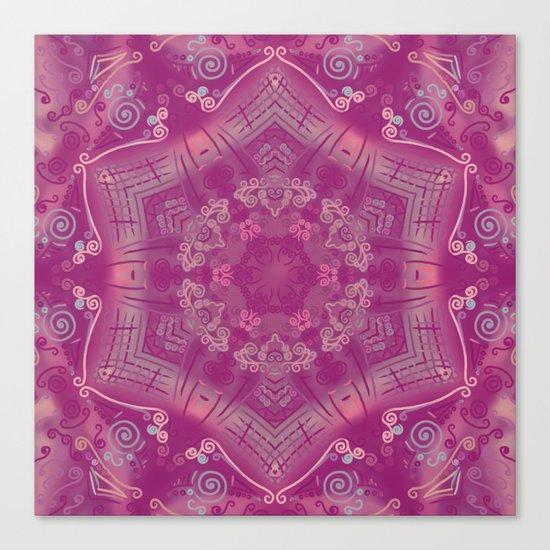 Cherry Mandala Canvas Print