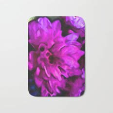 Lavender and Pink Flower with some Blue Bath Mat