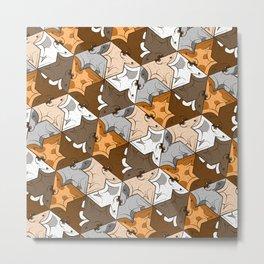 Happy puppies pattern Metal Print