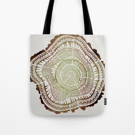 Tree Rings – Watercolor Ombre Tote Bag