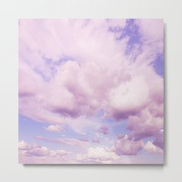 Pink Clouds In The Blue Sky #decor #society6 #buyart Metal Print