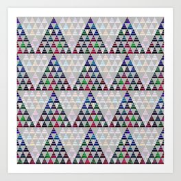 Abstract Pine Tree Pattern 5 Art Print