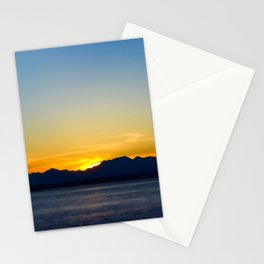 seattle sunset Stationery Cards