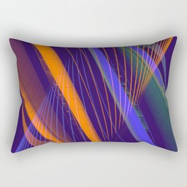 curved lines in architecure Rectangular Pillow