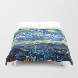 Starry Night Across the Universe Duvet Cover