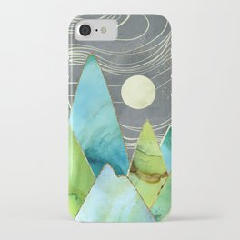Moonlit Mountains iPhone Case