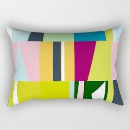mid century abstract Rectangular Pillow