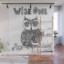 Wise Owl Wall Mural