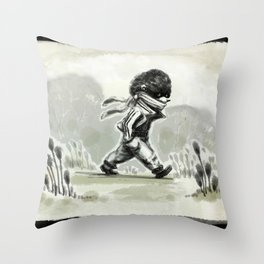 Horace, quietly wandering Throw Pillow