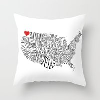 washington Throw Pillows featuring Washington by Taylor Steiner
