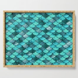 Mermaid Scales Turquoise Serving Tray