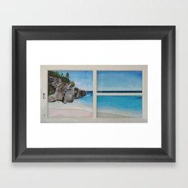 Bermuda Beach Framed Art Print