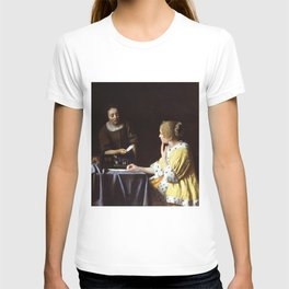 """Johannes Vermeer """"Lady with Her Maidservant Holding a Letter"""" T-shirt"""