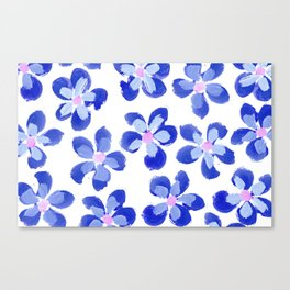 Posey Power - Ink Blue Multi Canvas Print