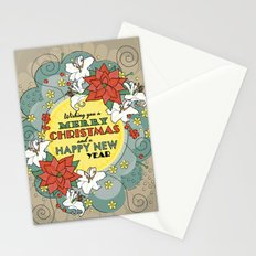 Wishing you a Merry Christmas and a Happy New Year - Affirmation Stationery Cards