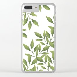 Lattice leaves Clear iPhone Case