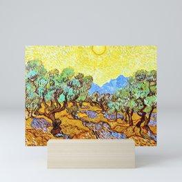 12,000pixel-500dpi - Vincent van Gogh - Olive Trees with yellow sky and sun - Digital Remastered Mini Art Print