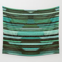 Green Slats Wall Tapestry