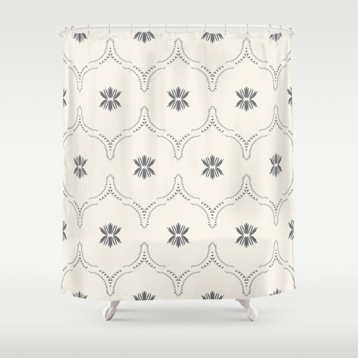 WILDFLOWER JASMIN GREY Shower Curtain
