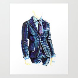 Kiton Style Art Print