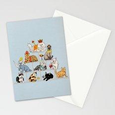 Cats Pyramid Stationery Cards