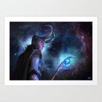 loki Art Prints featuring Loki by Slugette