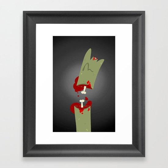 Lefty Zombie Framed Art Print