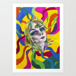 Amazing world of Kristin Art Print